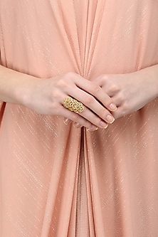 Gold Plated Filigree Ring by Zariin