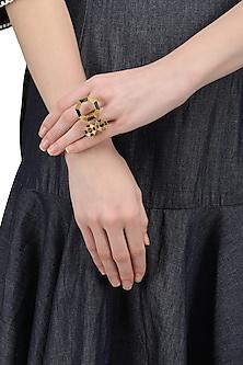 Gold Plated Octagonal Moftail Jasper Ring
