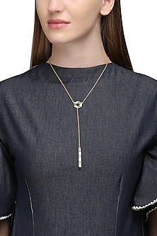 Gold Plated Hexagonal with Drop Necklace