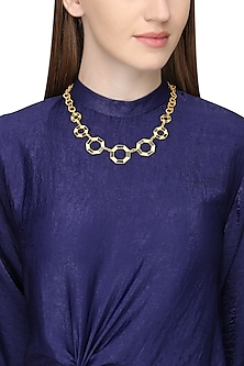 Gold Plated Moftail Jasper Necklace