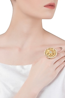 Gold Plated Mother Of Pearl Ring