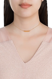 22Kt Gold Plated Necklace by Zariin