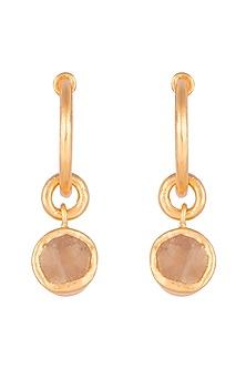 22Kt Gold Plated Citrine Earrings by Zariin