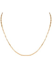 22Kt Gold Plated Chain Necklace by Zariin