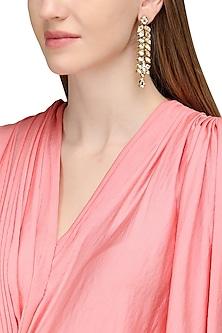 Gold Plated Kundan Earrings by Zevar by Geeta