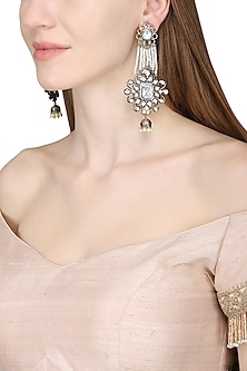 Gold Plated Mughal Inspired Long Earrings