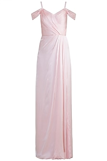 Light Pink Cold Shoulder Gown by Zephyrr by G & M