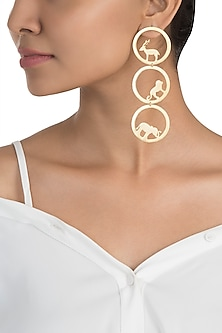 Gold plated amare earrings by ZOHRA