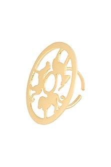 Gold plated animal silhouette amare ring by ZOHRA