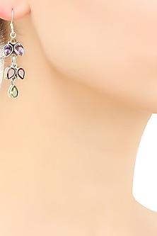 Sterling silver tripple cascading branch earrings by Zerokaata