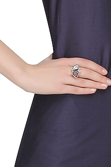 Sterling silver three is trouble ring