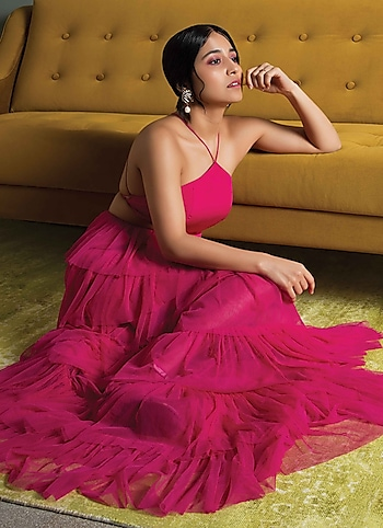 Shweta Tripathi looks dreamy in a frothy fuschia pink gown from Deme by Gabriella and baubles from Bansri. by PICTURE-PERFECT \r\n